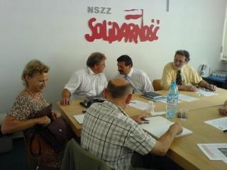 Dnia 31 lipca 2006 r. w Pałacu Prezydenckim w Warszawie,  kierownictwo Solidarności spotkało się z Panem Prezydentem RP Lechem Kaczyńskim